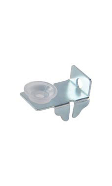 Left/Right End Glass Shelf Clips with Rubber Bumpers