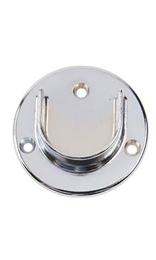 Open Chrome Flange for 1 ¼ inch Diameter Hangrail