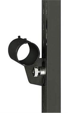 3 inch Round Black Hangrail Bracket for Slotted Standard - ½ inch slots 1 inch on center