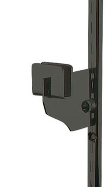 3 inch Black Dimensional Hangrail Bracket for Slotted Standard - ½ inch slots 1 inch on center