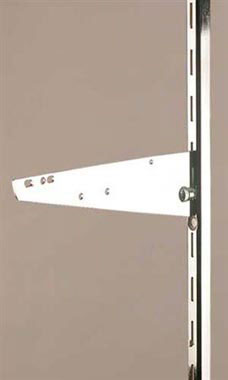 10 inch Chrome Knife Bracket for Slotted Standard - 1 inch slots 2 inch on center