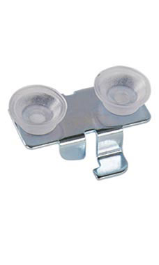 Rear/Center Lock-In Glass Shelf Rests with Rubber Bumpers