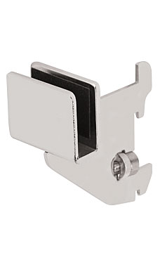 3 inch Chrome Dimensional Hangrail Bracket for Slotted Standards - 1 inch slots 2 inch on center