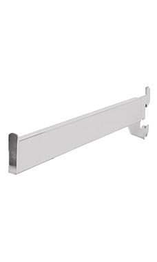 12 inch Dimensional Straight Chrome Faceout for Slotted Standard - 1 inch slots 2 inch on center