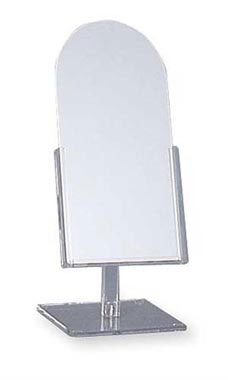 Tilting Clear Acrylic Countertop Mirror
