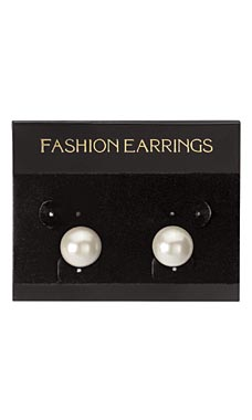 "Black Velour ""Fashion Earrings"" Earring Cards"