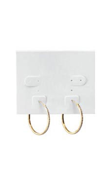 White Plastic Earring Cards