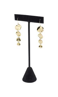 Earring T-Bar Displays - Black Velvet - 55151