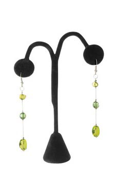 Black Velvet Earring Tree Display