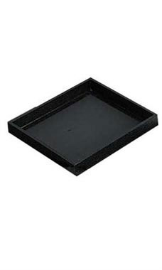 Small Black Faux Leather Open Top Tray