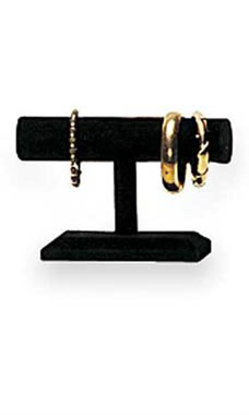 Small Black Velvet T-Bar Display