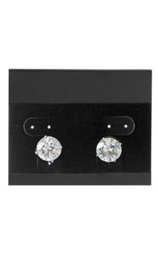 2 ½ inch Horizontal Black Velour Earring Cards