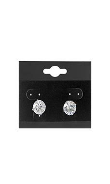 1 ½ inch Square Black Velour Earring Cards