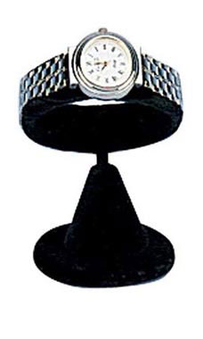 Horizontal Black Velvet Watch Display Stand