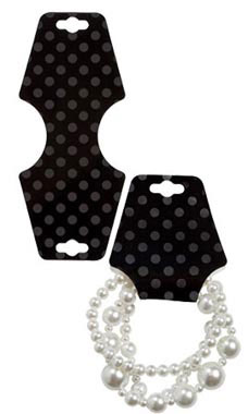 Black Dots Self-Adhesive Necklace Foldovers