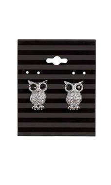 Black Stripes Earring Cards