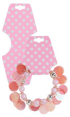 Pink Dots Self-Adhesive Necklace Foldovers
