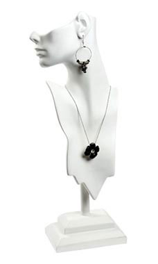 Large Side Profile White Earring/Necklace Display