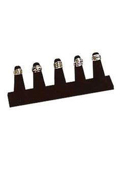 5-Finger Black Velvet Ring Display