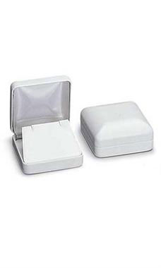 White Faux Leather Pendant Box