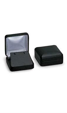 Black Faux Leather Pendant Box