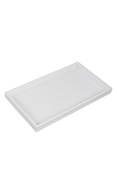 Large 1 inch White Plastic Stackable Tray