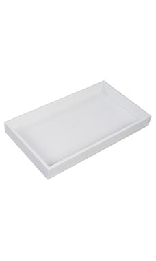 Large 1 ½ inch White Plastic Stackable Tray
