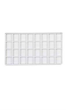 32 Section White Plastic Tray Inserts