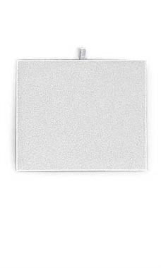 Small Rectangular White Faux Leather Jewelry Pad/Tray Liners