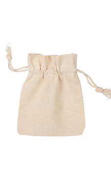 3 x 4 inch Natural Cotton Drawstring Pouches