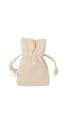 2 x 3 inch Natural Cotton Drawstring Pouches