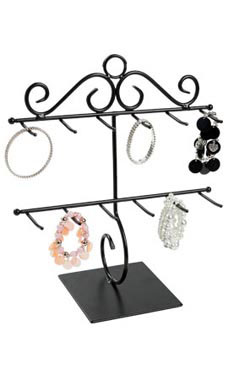 2-Tier Black Bracelet Holder