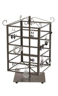 Large Tiered Square Rotating Jewelry Display