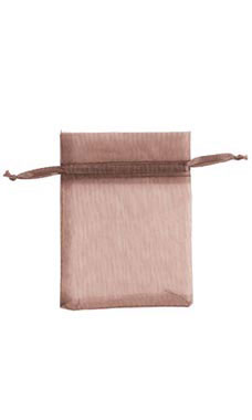 3 x 4 inch Chocolate Organza Drawstring Pouches