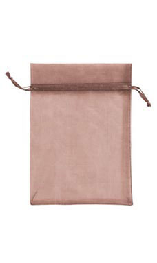 5 x 7 inch Chocolate Organza Drawstring Pouches
