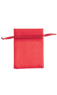 3 x 4 inch Red Organza Drawstring Pouches