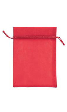 5 x 7 inch Red Organza Drawstring Pouches