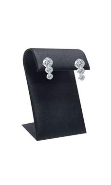 Small Black Leatherette Earring Display