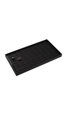 Large Black Faux Leather Ring Tray