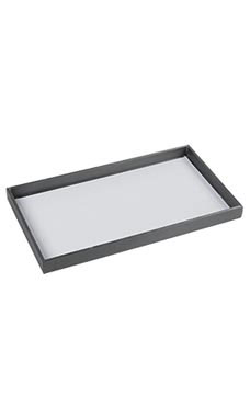 Large Open Top Gray Tray