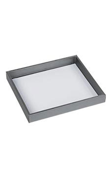 Small Open Top Gray Tray