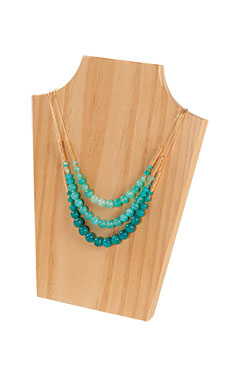 Large Natural Wood Necklace Display