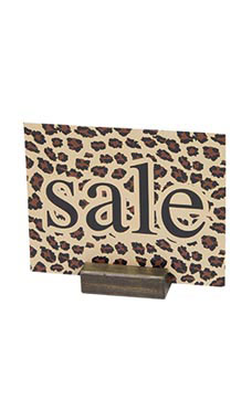 Dark Oak Wood Block Sign Holder