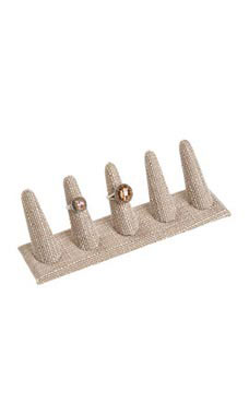 5-Ring Linen Finger Display