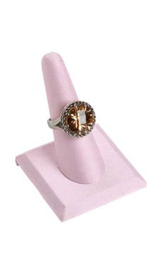 Single Finger Square Base Pink Ring Display