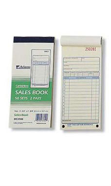 2- Part Carbonless Sales Book