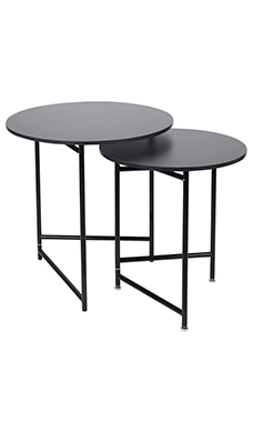 Round Nesting Black Tables
