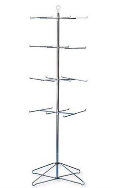 4-Tier Chrome Wire Spinner Rack