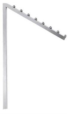 Interchangeable Chrome Slant Arm for Clothing Racks - 8 Balls & Square Tubing
