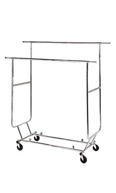 Chrome Double-Rail Collapsible Salesman Rack